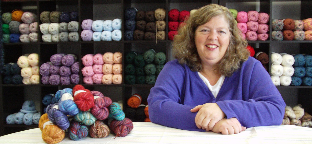 Woman with a yarn business